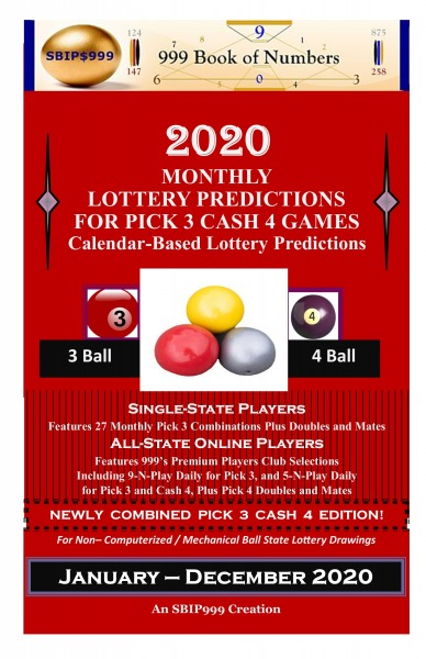 2020 Monthly Lottery Predictions